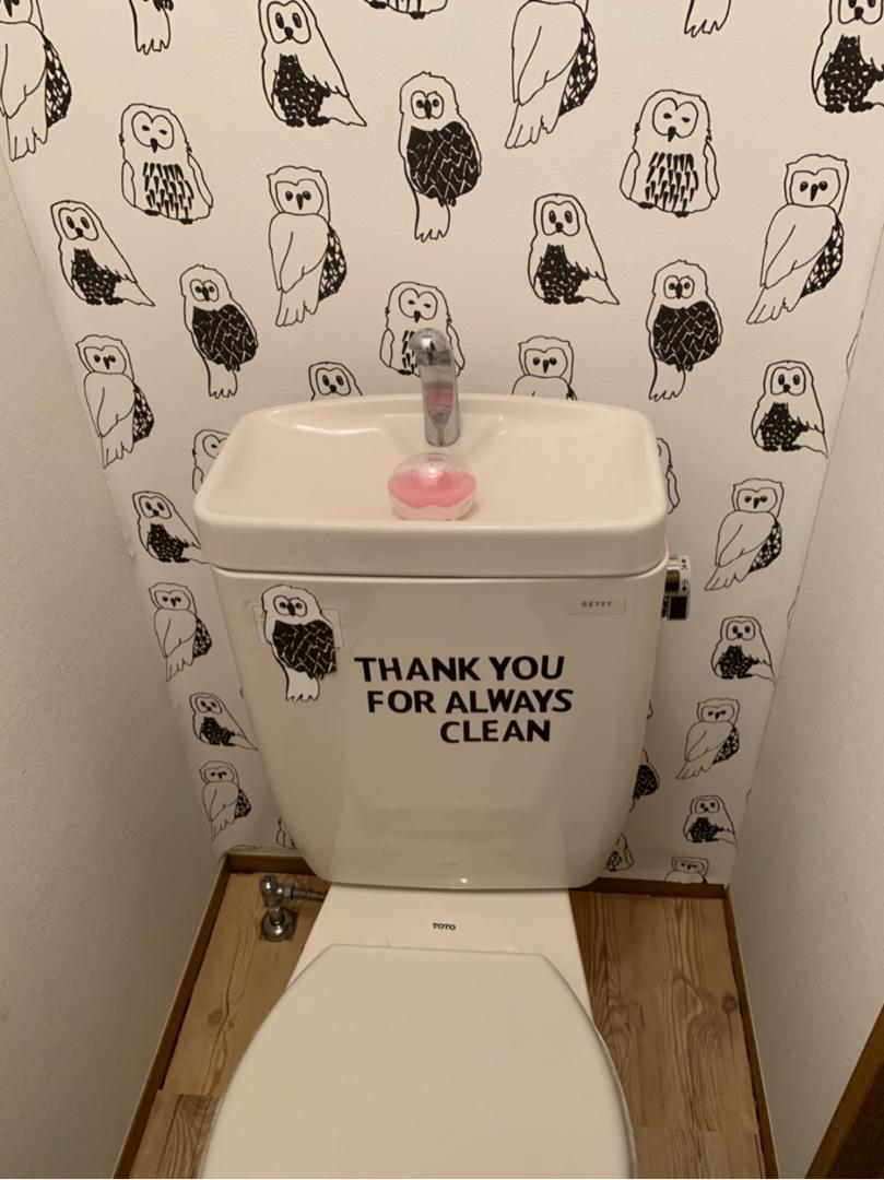 Mugi が投稿したフォト トイレを 気分転換にまたまた変えてみました 壁紙を変え 19 04 21 13 32 14 Limia リミア
