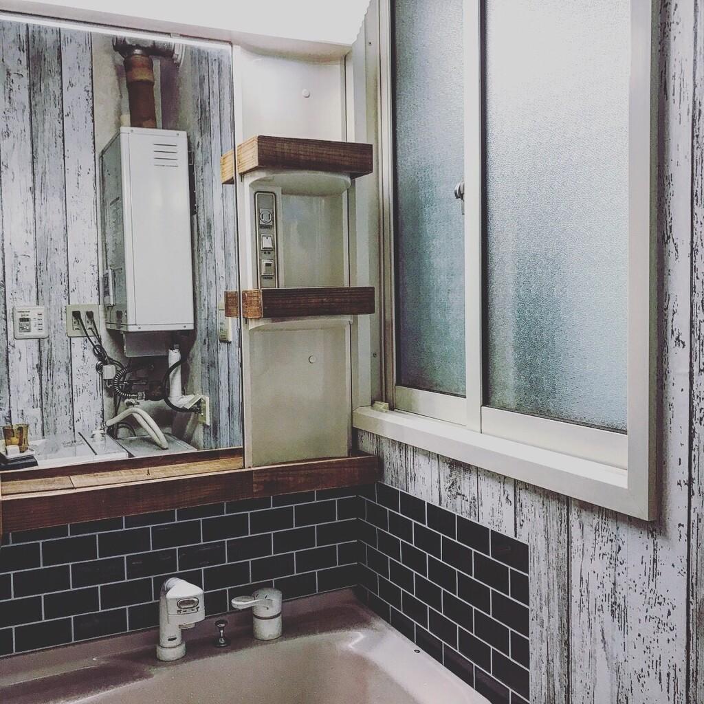 ☆DIY☆残念な洗面脱衣所を簡単DIYでセルフリフォーム①☆壁紙&洗面台リメイク☆
