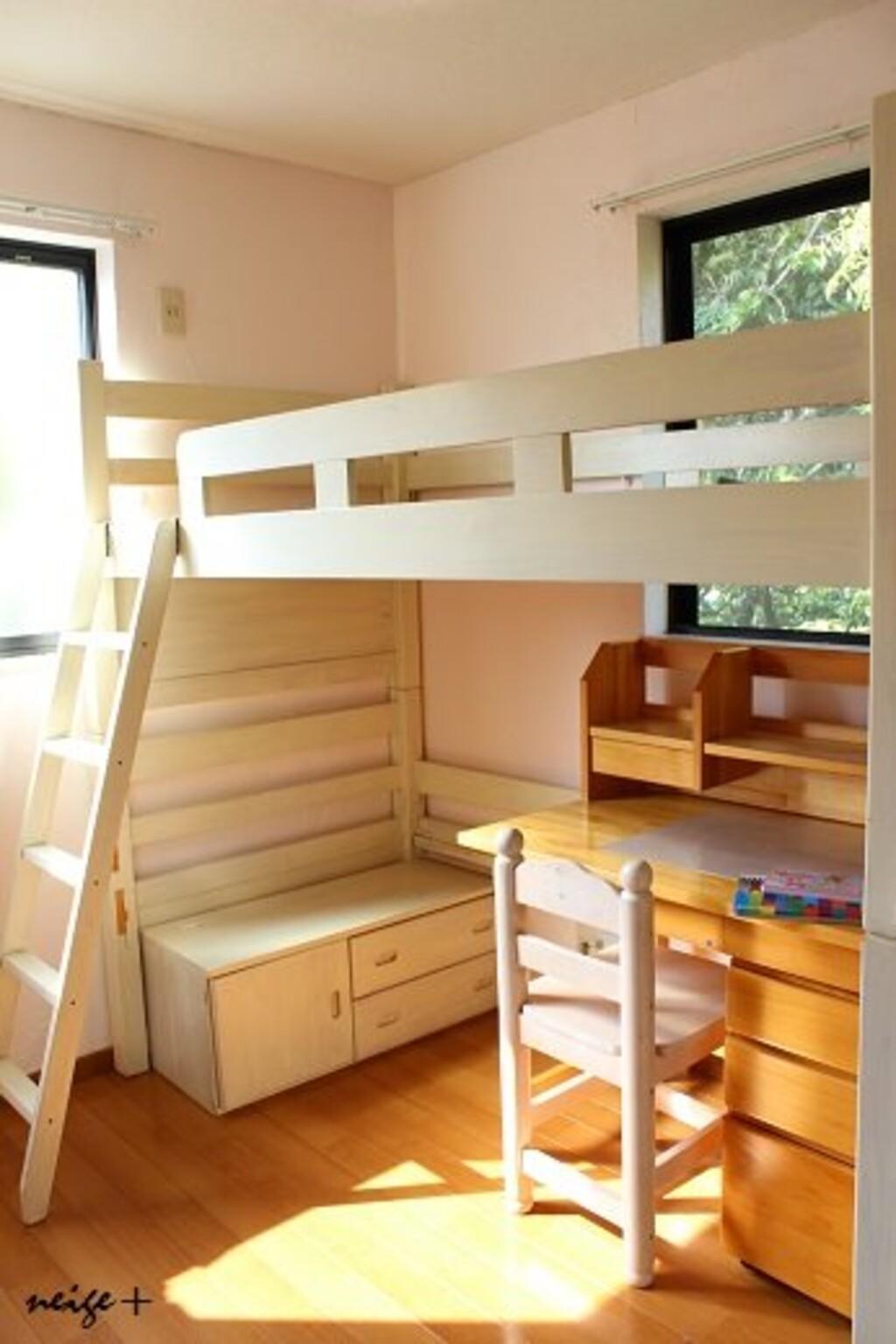 【diy子供部屋のリフォーム③】2段ベッドを子供が憧れるロフトベッドにリメイク! limia リミア