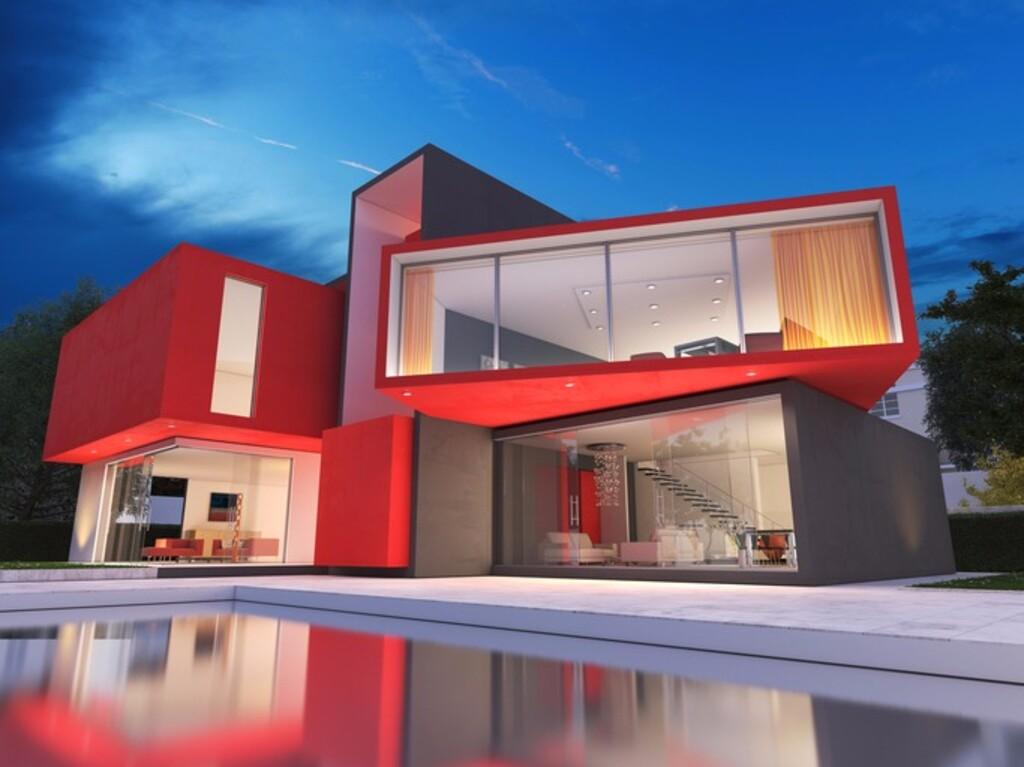 Limia for Fachadas de casas rojas modernas