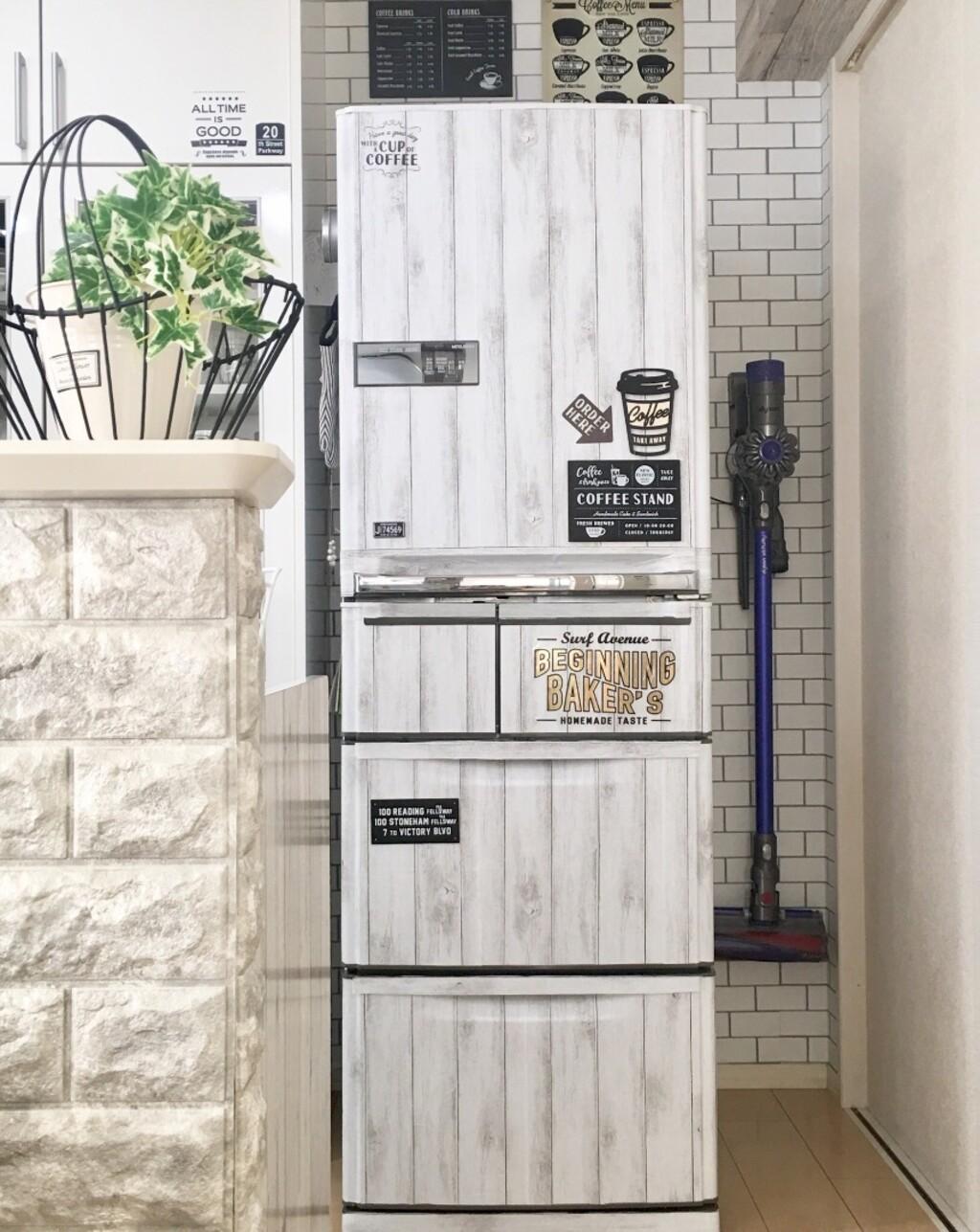 100均 ダイソー セリアで冷蔵庫を男前リメイク 追記あり Limia リミア