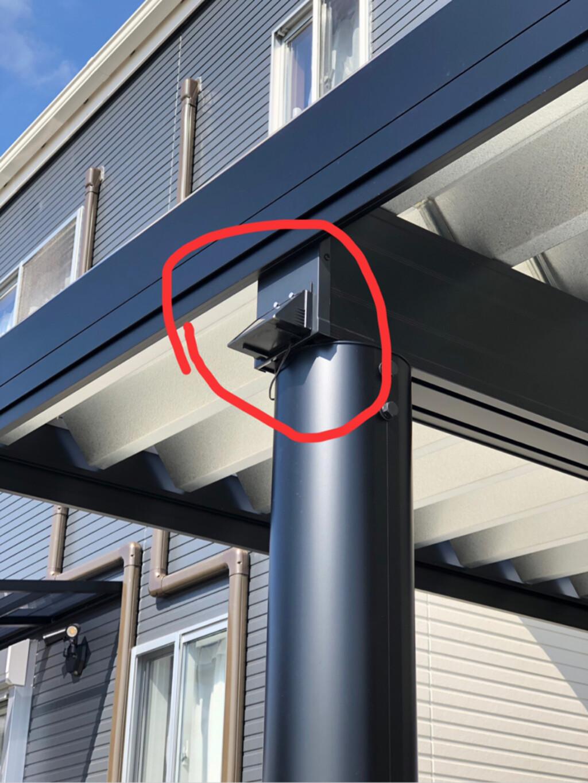Amazon/DIY/はじめてフォト投稿/分離式  ソーラー  センサーライ... 分離式ソーラーセンサーライトをカーポート…