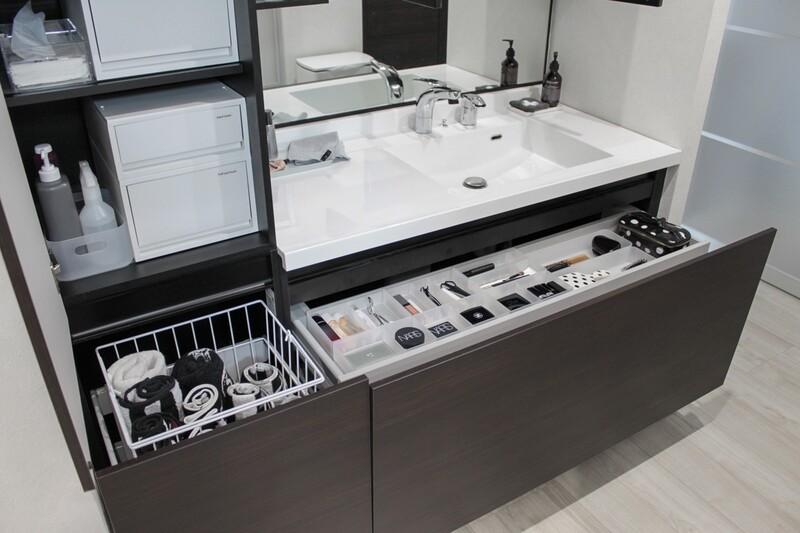 洗面所のすきまに。無印良品のポリプロピレンストッカー