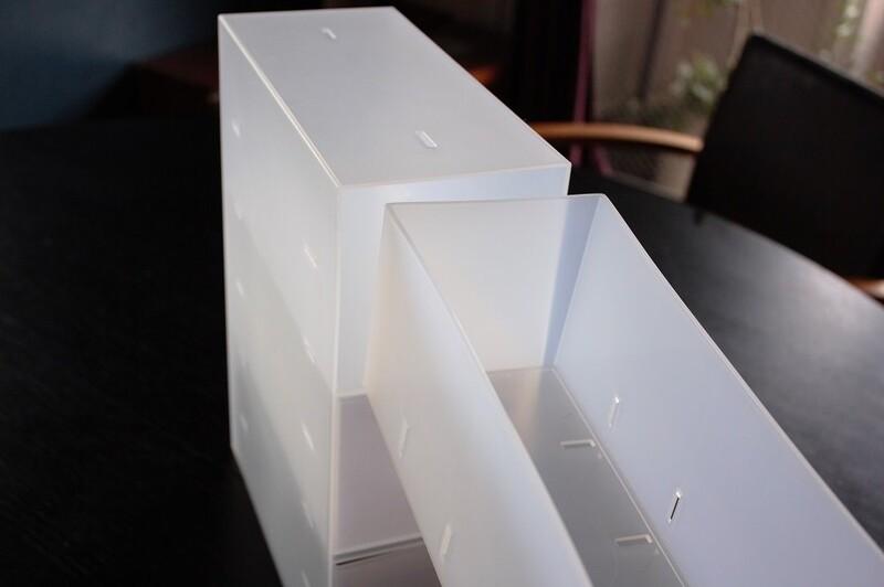 ボックス自体に「たわみ」がある、PP収納ボックス3段を縦に使う、といった場合、重力で一番上の引き出しは「あそび」が多くみられるのです。その場合、この対応だけ  ...
