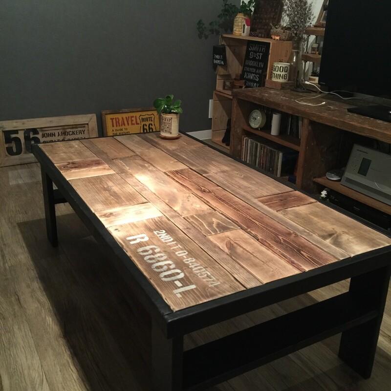 端材を使っておしゃれにローテーブルをDIY!
