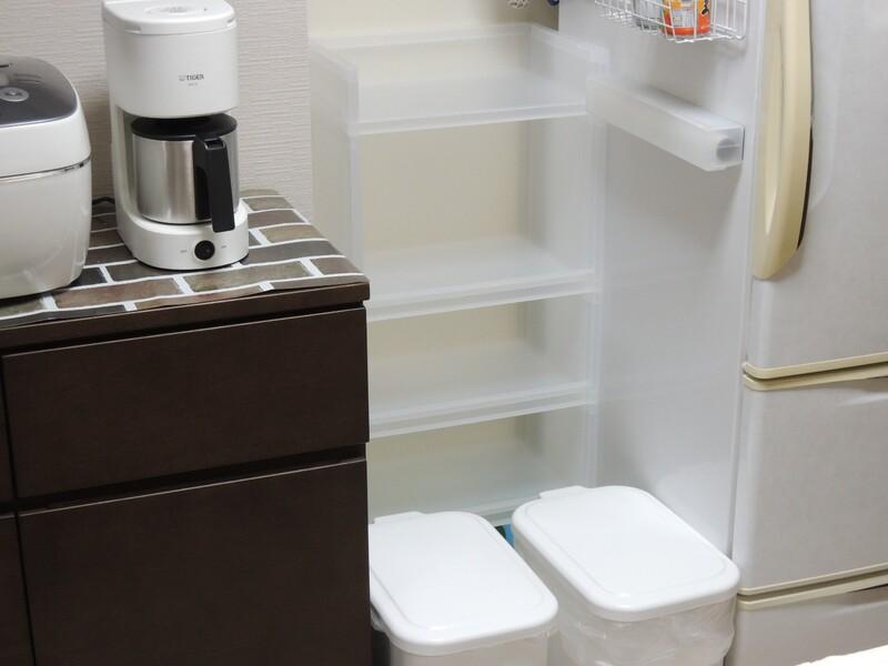 無印良品「ポリプロピレン収納ラック」でキッチンの隙間を有効活用