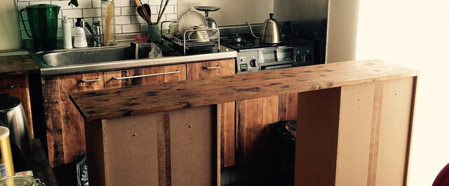カウンター 手作り キッチン