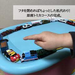 おもちゃ入れ/トイボックス/ニトリ購入品/キッズ収納/ぬいぐるみ収納/おもちゃ収納/... 《最強のおもちゃ箱》  こんなにも便利て…(5枚目)