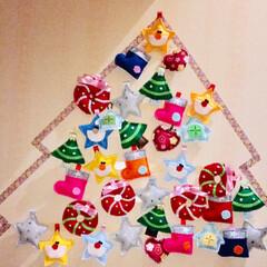 ハンドメイド/クリスマス/雑貨 いっぱいできましたー。 お星さまにサンタ…