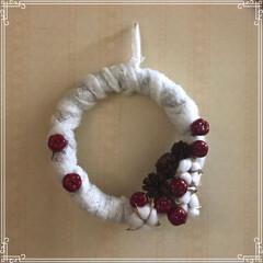 マリメッコ/オデザ/クリスマス/フード/ハンドメイド リース、ぽんぽこさんのとか 参考に作ろう…