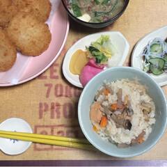 おうちごはん/nagomiさん作品 今日の晩ご飯は 炊き込みごはん♡  na…