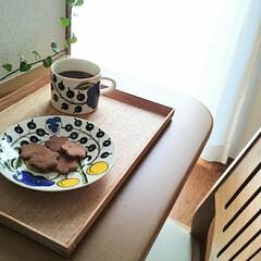 フォロー大歓迎/カフェタイム/手作りおやつ/おやつタイム/おうちカフェ/暮らし 手作りのココアクッキーとコーヒーでカフェ…