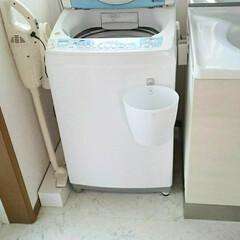 マキタ掃除機/掃除機/洗面所/住まい/暮らし 洗面所のフォト。 マキタの掃除機は洗面所…