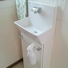 手洗い器/詰替えボトル/掃除グッズ/スプレーボトル/雑貨/掃除/... トイレの手洗い器にお気に入りのスプレーボ…