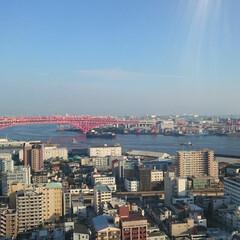大阪/風景/観覧車/おでかけ/旅行/LIMIAおでかけ部/... 観覧車の頂上近くで撮ったワンショット。 …