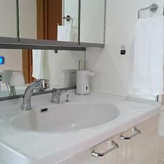 シンプルな暮らし/水回り/洗面所/暮らし/フォロー大歓迎 最近の洗面所インテリア。 なんてことのな…