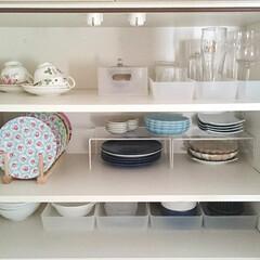フォロー大歓迎/食器棚収納/キッチン収納/収納/キッチン/無印良品/... 最近の食器棚の中を撮ってみました♪ 食器…