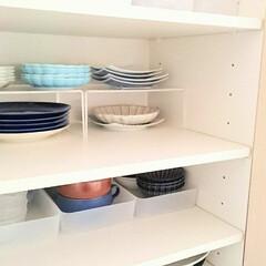 食器棚収納/食器棚/キッチン/収納/わたしのお気に入り 少しずつお気に入りのお皿を揃えていってる…