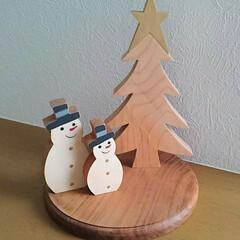 スノーマン/クリスマス/クリスマスツリー/雑貨/インテリア 去年購入した木のクリスマスオブジェ✨ 優…