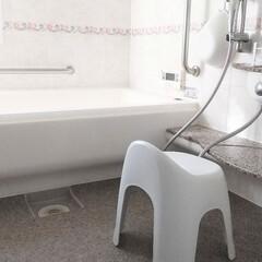 お風呂場グッズ/バスルームインテリア/シンプルな暮らし/バスルーム/お風呂場/暮らし/... 最近のバスルームの写真です。 なるべくモ…
