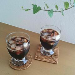 グラス/アイスコーヒー/コーヒー/ニトリ/コップ/食器 まだまだ昼間は暑いのでアイスコーヒーが欠…