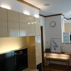 IKEA/間接照明/インテリア/フォロー大歓迎/LIMIAインテリア部/おうち自慢 少し前のインテリア♪ IKEAのスティッ…
