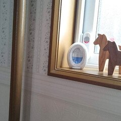 P&G ファブリーズ W消臭 トイレ用消臭剤 ブルー・シャボン 2個パック   P&G(部屋用)を使ったクチコミ「トイレの小窓に飾っている木製のダーラナホ…」