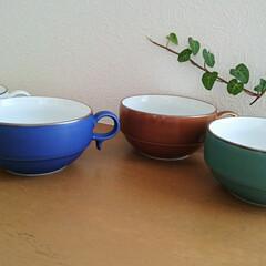 白山陶器/スープカップ/食器/フォロー大歓迎/キッチン/わたしのお気に入り お気に入りの白山陶器のスープカップ✨ 落…