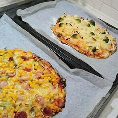 ピザ/週末ごはん/晩ごはん/手作りピザ/食事情/暮らし/... 今日の晩ごはんは手作りピザで軽食スタイル…