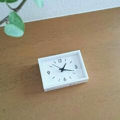 置き時計/掛け時計/時計/雑貨/無印良品/雑貨だいすき 無印良品の駅の時計・ミニがお気に入り💕 …