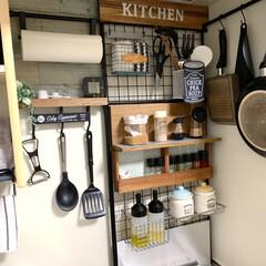 キャニスター/ニトリ/キッチン雑貨/キッチン/DIY/暮らし/... お気に入りのキッチン♪