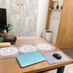 手作り/テーブルランナー/テーブル/ドイリー/レース編み/DIY/... 母手作りのレース編みのドイリー♪