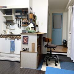 ワンルーム/簡単DIY/リメイクシート/賃貸/トイレ扉/DIY/... トイレの扉を可愛くしてみました〜♪ 作り…