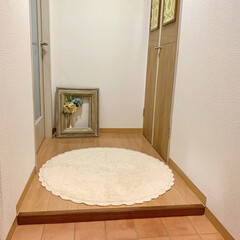 玄関/ラウンドマット/フロアマット/暮らし/ニトリ 玄関にニトリのラウンドフロアマット♪ 雰…