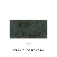 セラミック天板/アイアングレイ/R/ネオス/セラミックプレート/カラーサンプル セラミック天板の色柄、アイアングレイ色(…(1枚目)