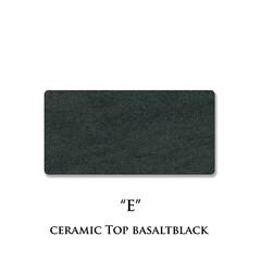 セラミック天板/バサルトブラック/E/ネオス/セラミックプレート/カラーサンプル セラミック天板の色柄、バサルトブラック色…(1枚目)