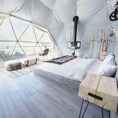 コロナウィルスが早く終息しますように/コロナに負けるな/内装デザイン/トータルコーディネート/アウトドア/キャンプ/... DOME INTERIOR ドームの内装…(1枚目)