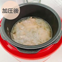 シロカ siroca 電気圧力鍋 SP-D131 レッド | シロカ(電気圧力鍋)を使ったクチコミ「こんにちは! 今日は先日作ったスープを…」(5枚目)