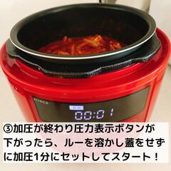 シロカ siroca 電気圧力鍋 SP-D131 レッド   シロカ(電気圧力鍋)を使ったクチコミ「こんにちは! いつも見てくださってあり…」(6枚目)