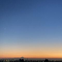 夕焼け空/夕日/雲/空/富士山/夕焼け/... 自然が作り出す色は 美しすぎる。(1枚目)