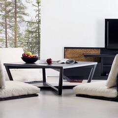 高品質バンブーファニチャー PERFORMAX正規品 バンブー 座椅子 座いす ローソファー ローチェア 座イス リビングチェア アジアン リゾート ホテル 旅館 アジアン家具(その他椅子、スツール、座椅子)を使ったクチコミ「和室スペースもスタイリッシュモダンにコー…」(1枚目)