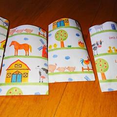 お年玉袋/100均 娘の紙が余ったのでポチ袋を作ってみました😌