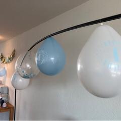 Geburtstagsfeier/1stbirthday/one birthday/ファーストバースデー/ハンドメイド/赤ちゃんのいる暮らし 皆さんお久しぶりです😊  妊娠中から私を…(4枚目)