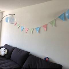 Geburtstagsfeier/1stbirthday/one birthday/ファーストバースデー/ハンドメイド/赤ちゃんのいる暮らし 皆さんお久しぶりです😊  妊娠中から私を…(5枚目)