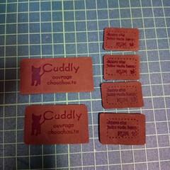 革タグ/タグ/雑貨/ハンドメイド 革タグ作ってみました。  いつもはネーム…