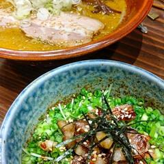 「焙煎ごまみそラーメン&ねぎ肉ごはん  こ…」(1枚目)