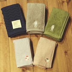 刺繍/タオル/ランドリー/トイレ/雑貨/100均/... タオルを買い替え!  色味と刺繍が気に入…