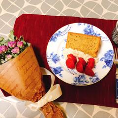 セリアにアイスクリーム/シフォンケーキ 久しぶりに作った紅茶のシフォンケーキ ホ…