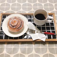 パン派/シナモロール/コーヒー/タイルトレイ シナモロールとコーヒー 少し前に作ったタ…