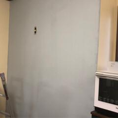 壁紙イメチェン/ニッペペンキセット/ぎっくり背中 壁紙をペイントしてみました  イエローも…(6枚目)
